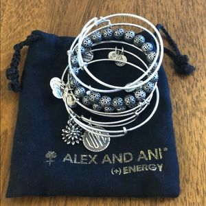 Alex and Ani bracelet set - Love and waterlily
